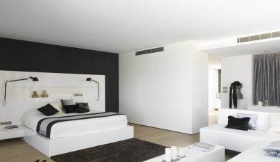 dormitorio blanco y negro13