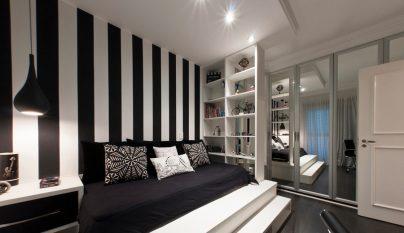 dormitorio blanco y negro6