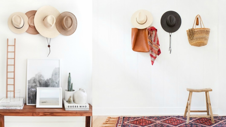 ideas decoracion sombreros