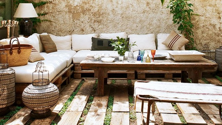 Ideas para decorar la terraza con palets