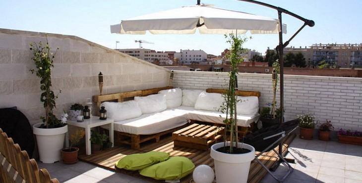 Palets terraza7 for Sofas con palets para jardin