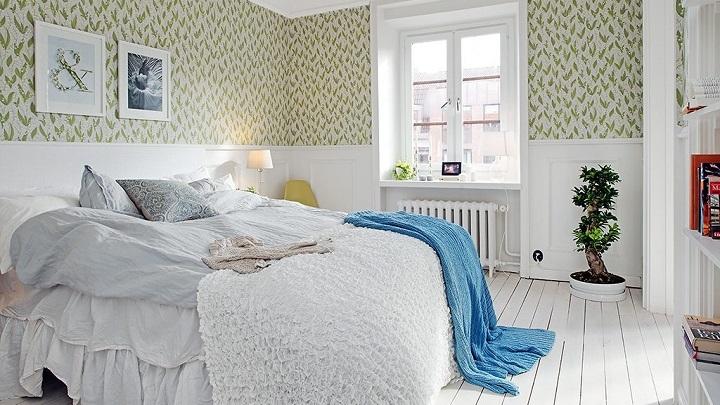 papel pintado dormitorio foto