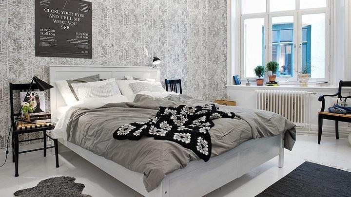 Consejos e ideas para decorar el dormitorio con papel pintado - Papel pintado dormitorios ...