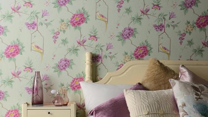 Consejos e ideas para decorar el dormitorio con papel pintado - Papel pintado para decorar muebles ...