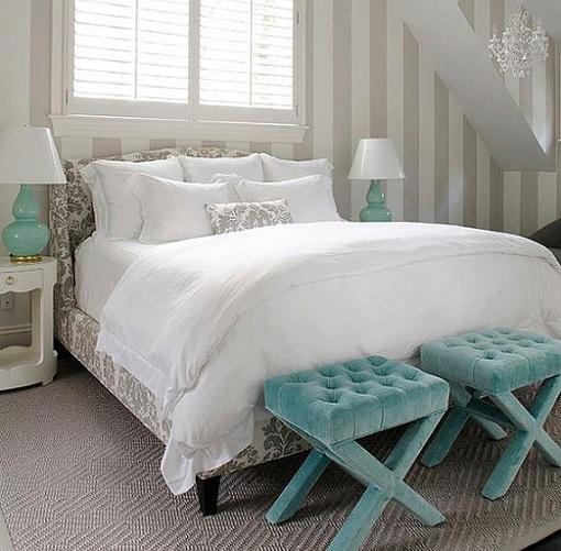Papel pintado dormitorio20 - Dormitorio con papel pintado ...