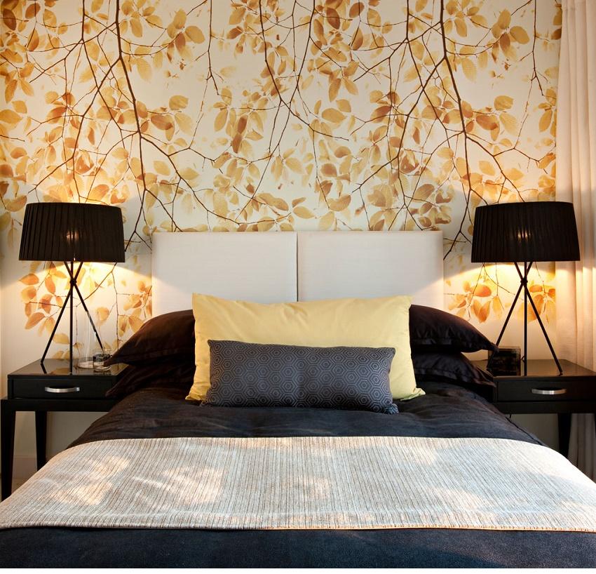 Papel pintado dormitorio30 - Dormitorio con papel pintado ...