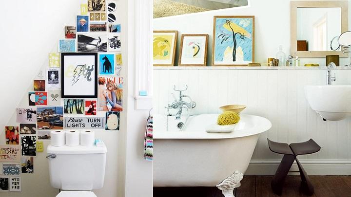 Decorar el cuarto de ba o con cuadros for Cuadros cuarto de bano originales
