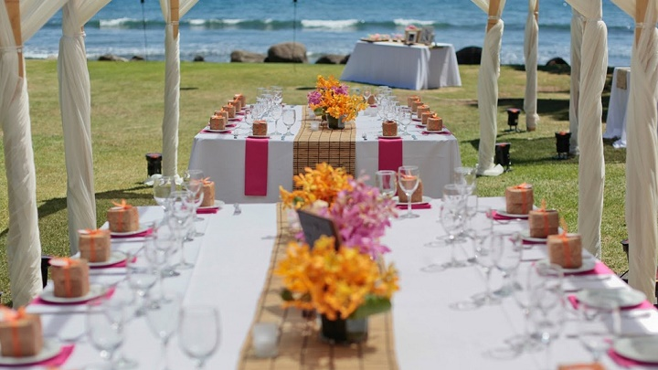 boda playa mesa