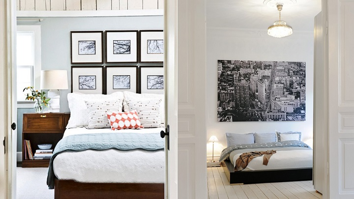 10 ideas para decorar la pared del cabecero - Decorar pared con cuadros ...