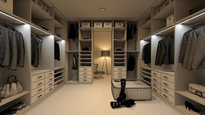Consejos para iluminar un vestidor