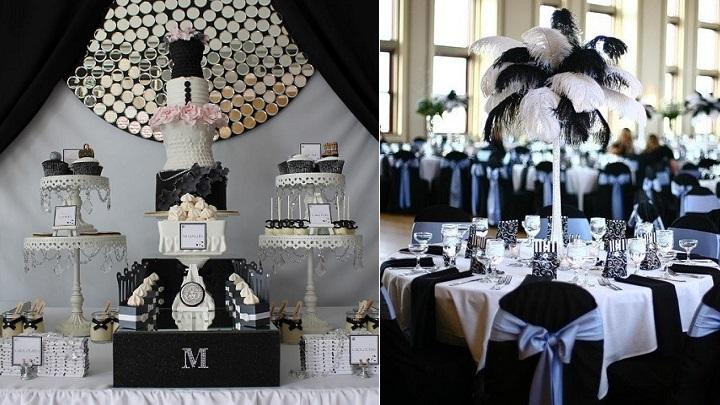 Decorar una fiesta en blanco y negro - Decoracion de salones en blanco ...