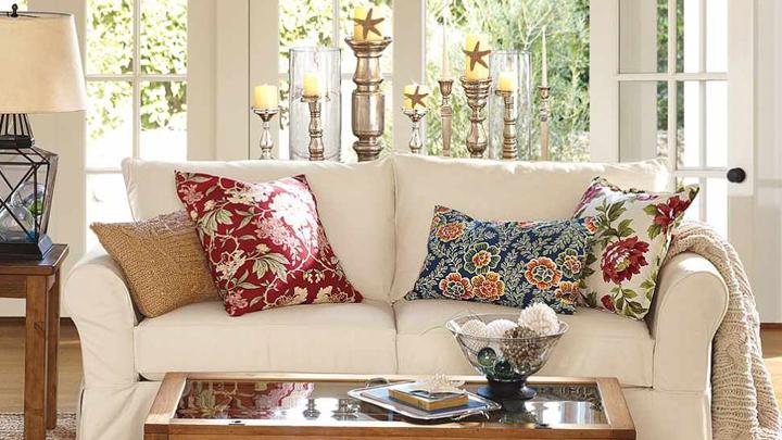 Como Decorar Un Sofa Blanco Con Cojines.Decorablog Revista De Decoracion