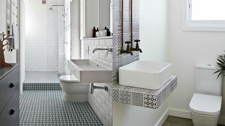 Lavabos Para Baños Estrechos:Ideas para decorar un cuarto de baño estrecho