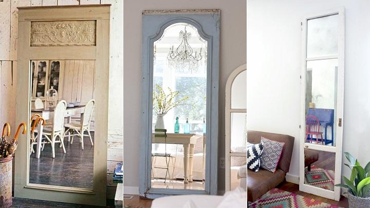 10 ideas para reciclar puertas viejas for Decorar puertas viejas de interior