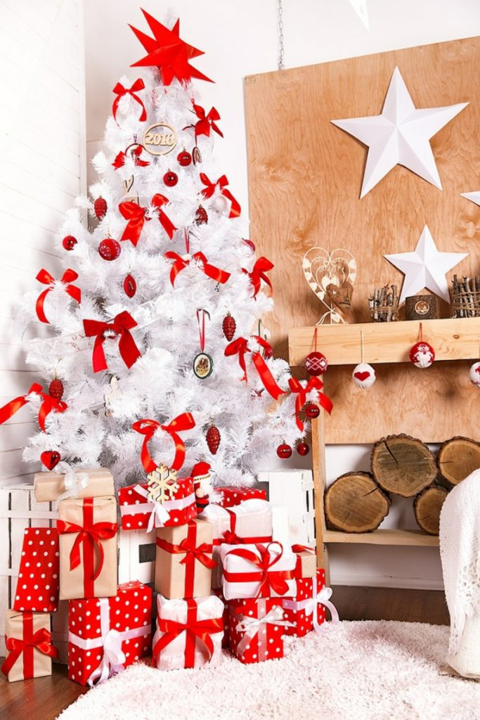 amazing arboles de navidad blanco decoracion with arboles de navidad blanco decoracion - Arboles De Navidad Blancos