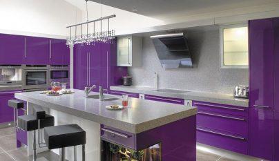 Fotos de cocinas de color morado - Cocina color lila ...