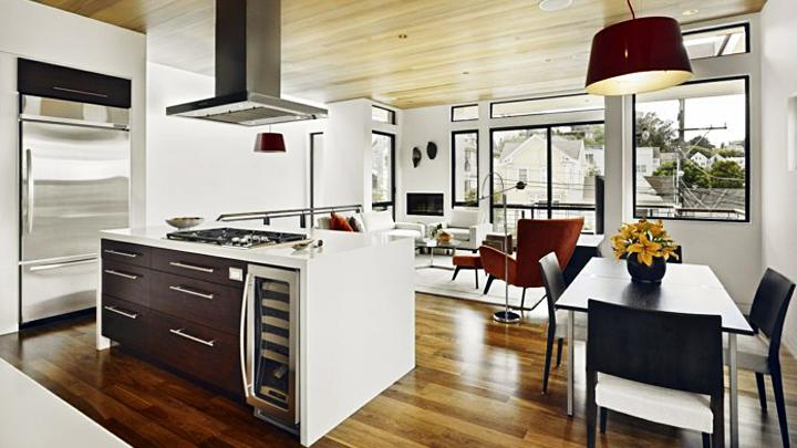 Decorar y comunicar el sal n el comedor y la cocina - Cocina salon comedor ...