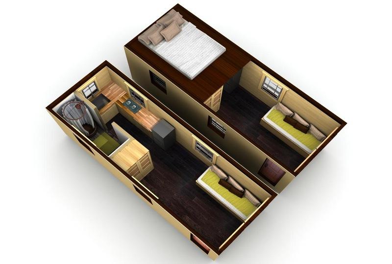 Mini casa de 16 metros cuadrados6 for Planos de cocinas de 6 metros cuadrados