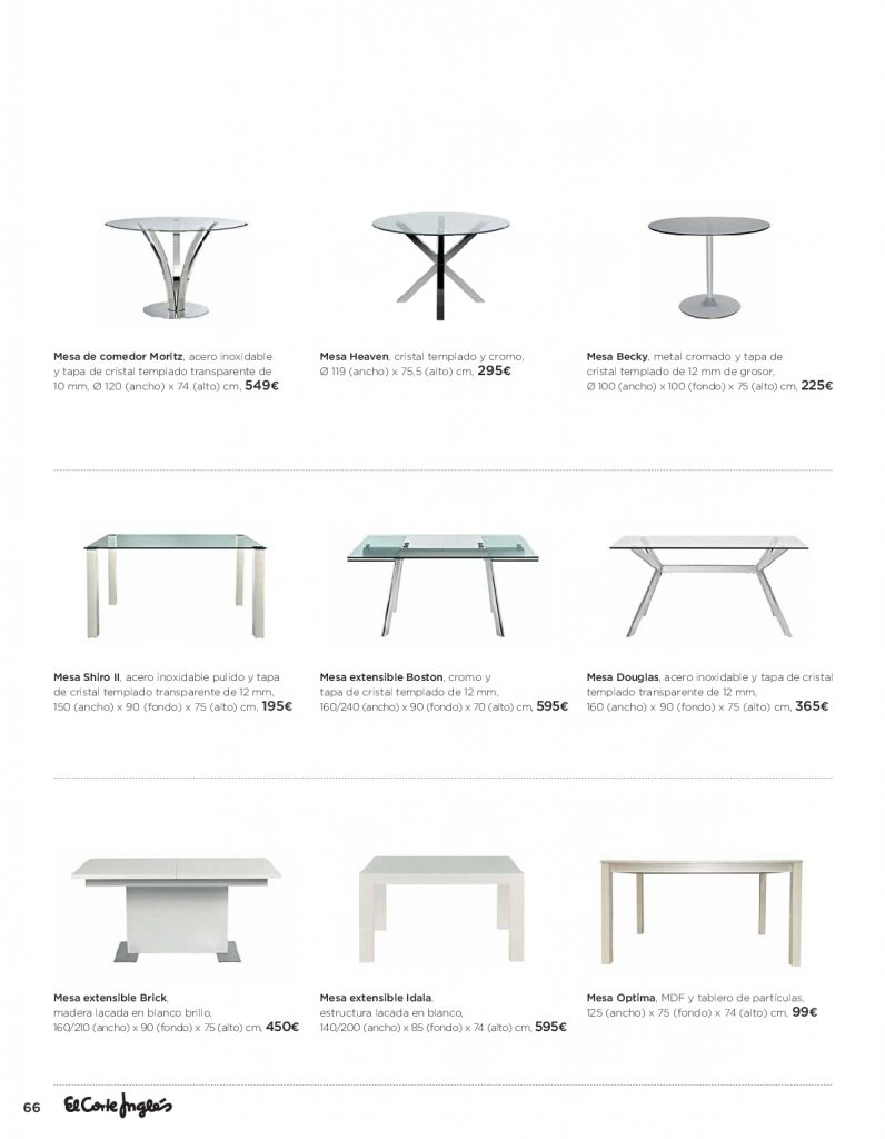 Mesas el corte ingles simple mesas bajas de salon el - Mesa plegable el corte ingles ...