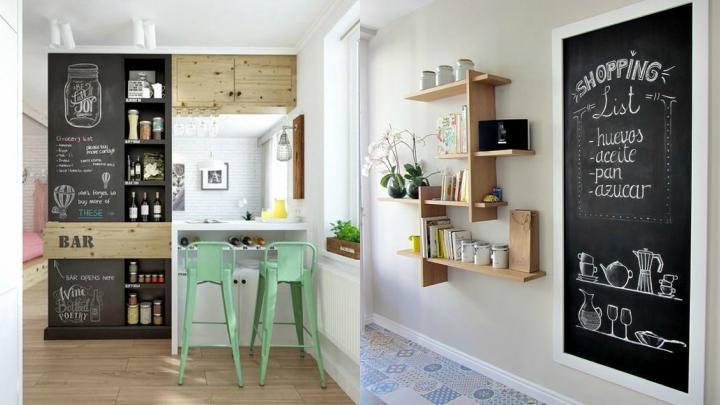 10 buenas ideas para decorar la cocina - Pizarra para cocina ...