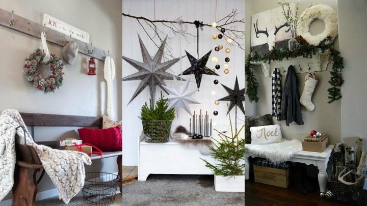 ideas para decorar el recibidor en navidad