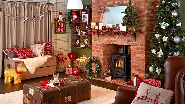 fotos de salones decorados para la navidad