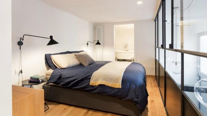 Loft-industrial-londres-dormitorio