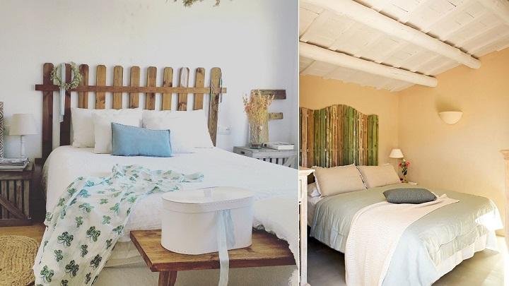Cabeceros de cama con tablas de madera perfect cabecero - Cabecero de tablas ...