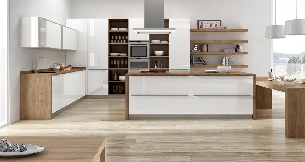 Cocina blanca madera38 - Singular kitchen madrid ...