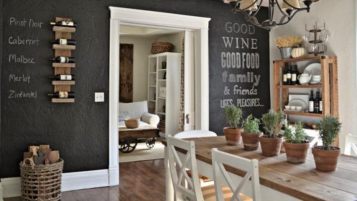 adems los pequeos de la casa disfrutarn de lo lindo con las paredes de pizarra en nuestro artculo ideas para utilizar pintura de pizarra en el hogar - Decoracion Paredes