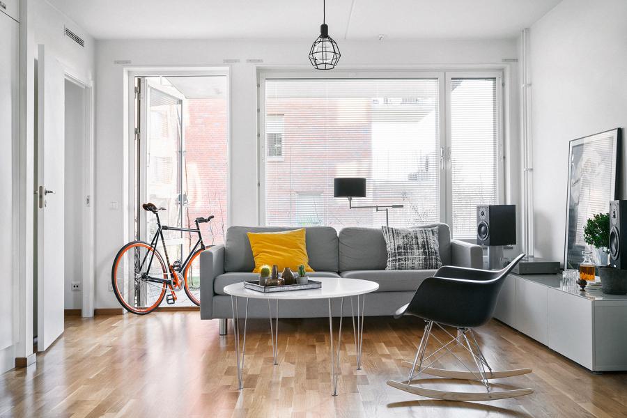 Salon blanco y gris38 - Salones decorados en blanco ...