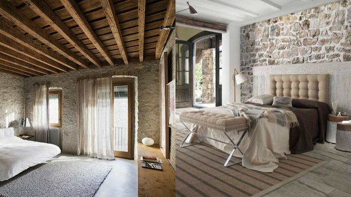 Dormitorio-rustico-piedra