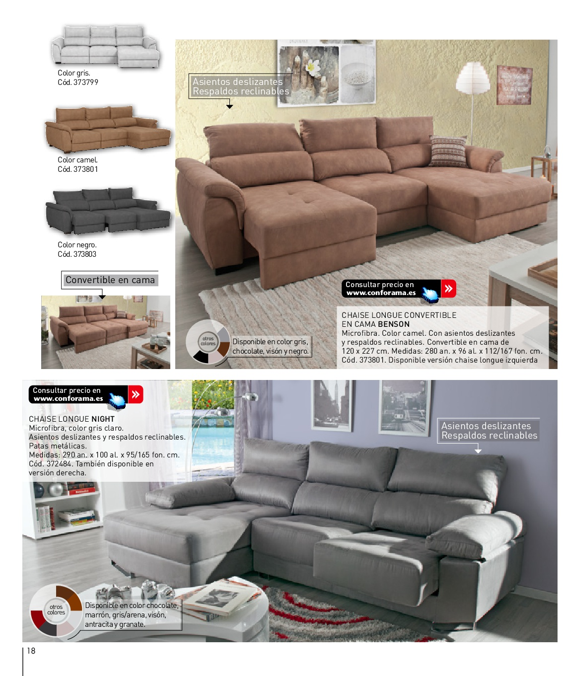 Fundas para sofas conforama great silln stela en for Sofa cama una plaza conforama