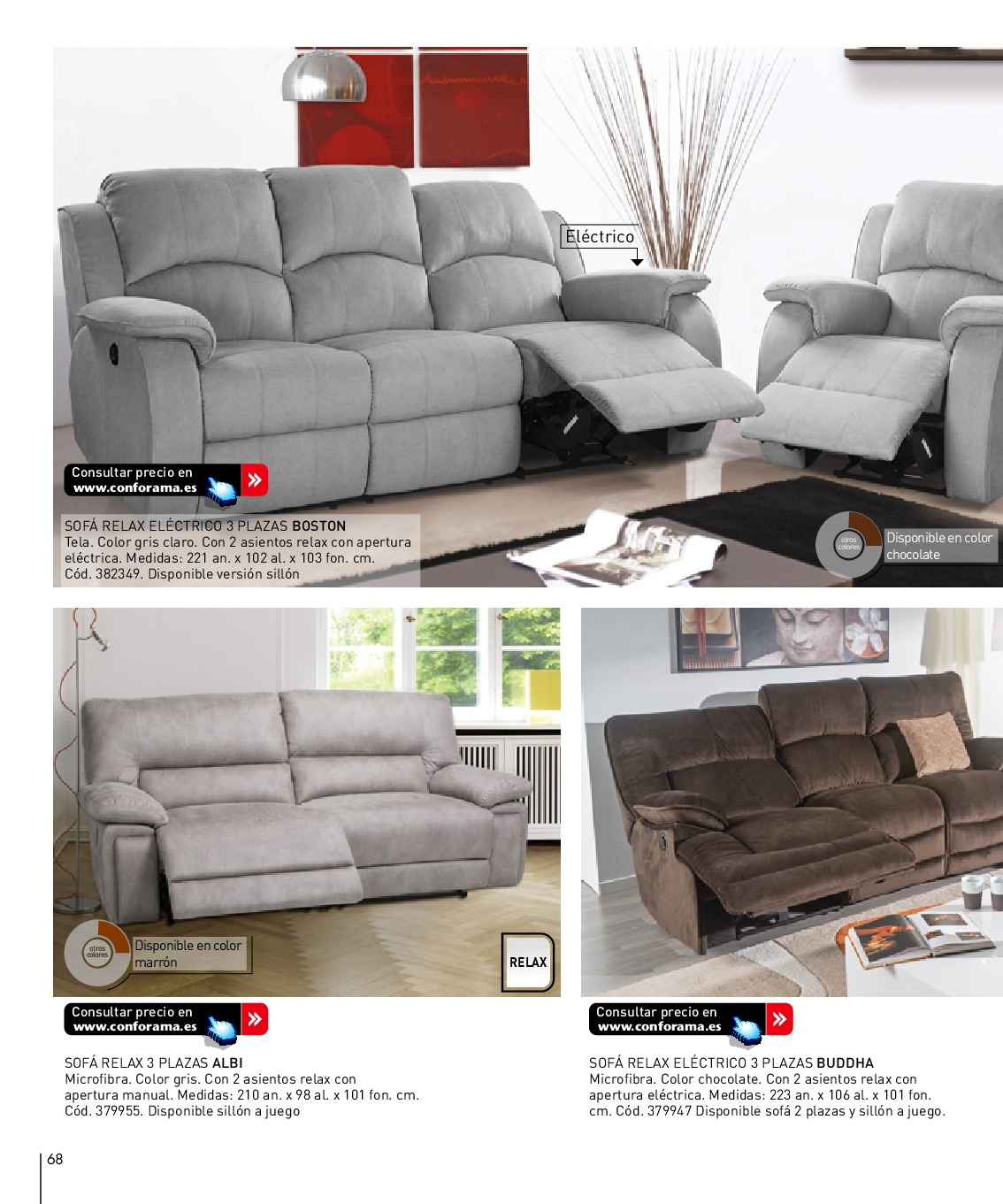 Sofa 2 plazas conforama sof relax plazas valdo with sofa for Divano kelly conforama