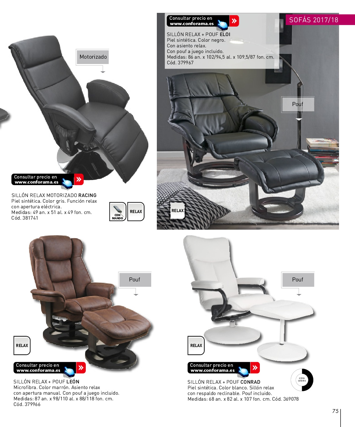Sillones reclinables conforama awesome page with sillones for Sillones baratos conforama