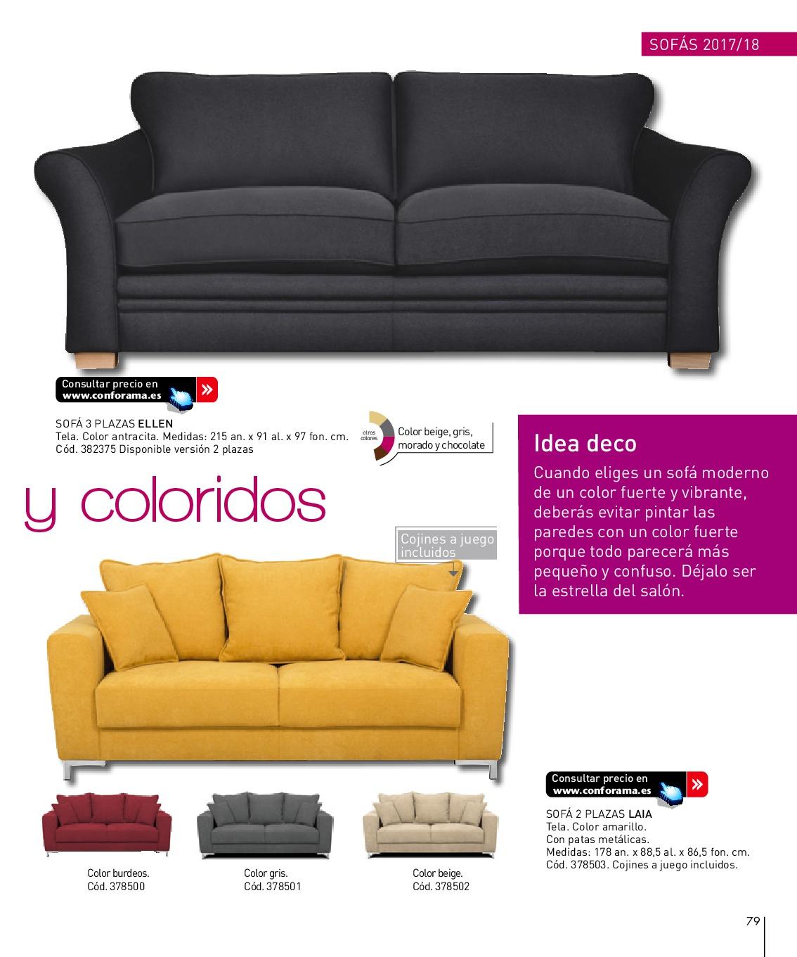 Sofa 2 plazas conforama sof relax plazas valdo with sofa for Sofas piel conforama