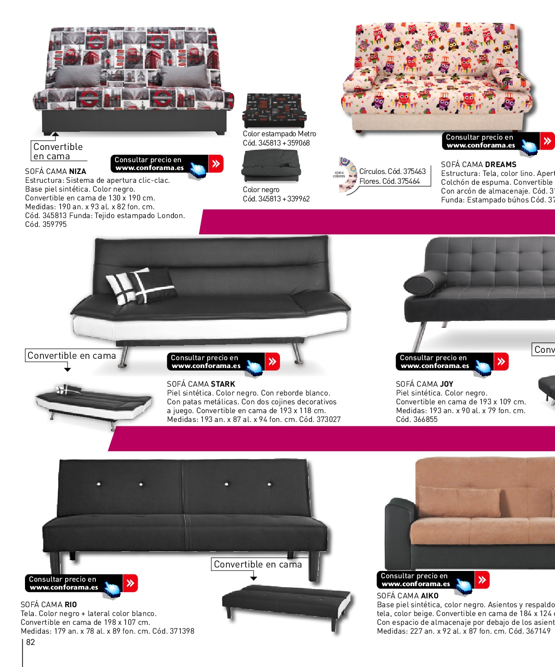 Sofa Cama Niza Conforama.Decorablog Revista De Decoracion