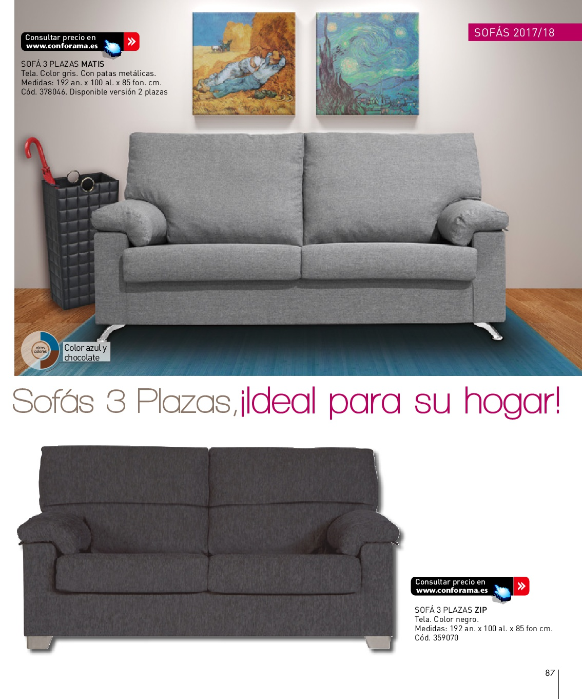 Sofas dos plazas conforama latest cool stunning sofa for Sofa cama una plaza conforama
