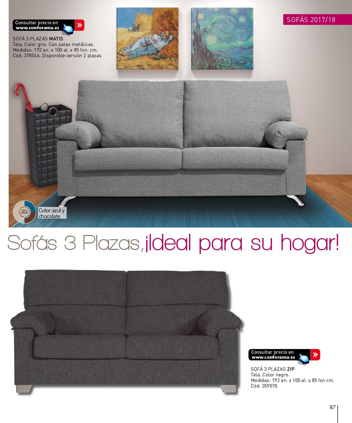 Sofas dos plazas conforama top page with sofas dos plazas for Sofa cama una plaza conforama
