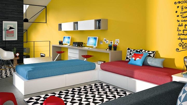 Decorablog revista de decoraci n - Habitaciones para dos ninas ...