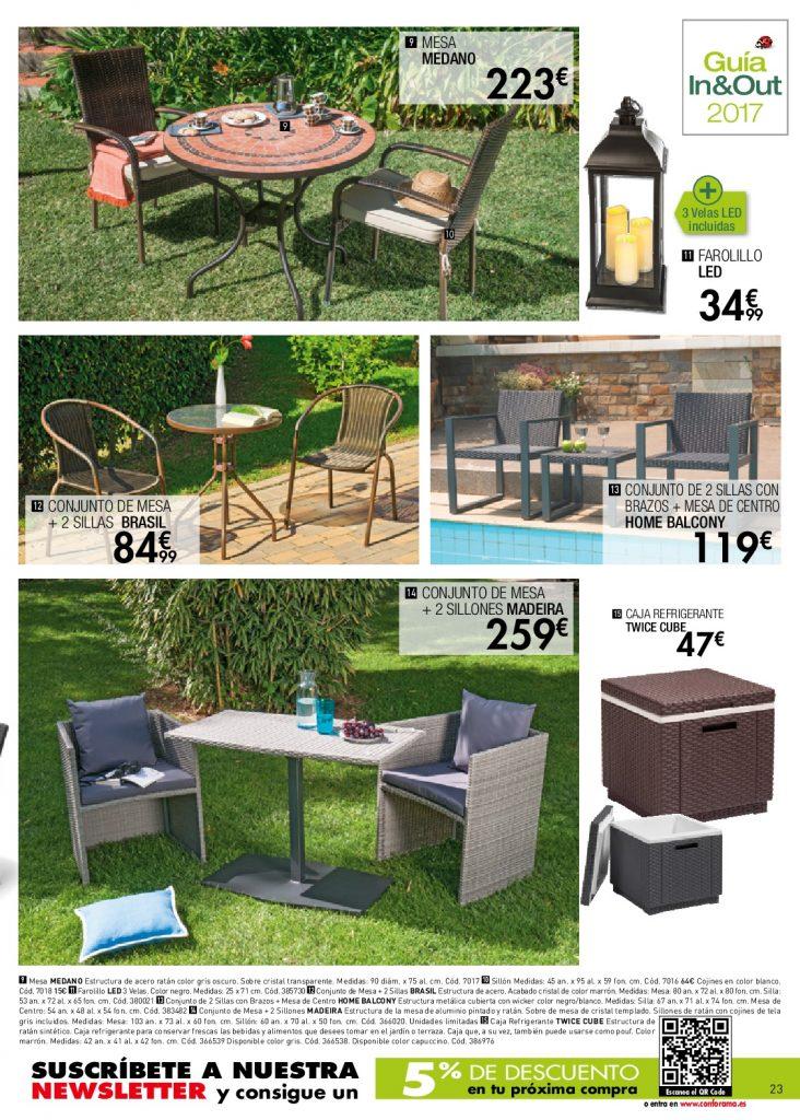 Conforama muebles de jardin dise os arquitect nicos - Muebles de jardin conforama ...