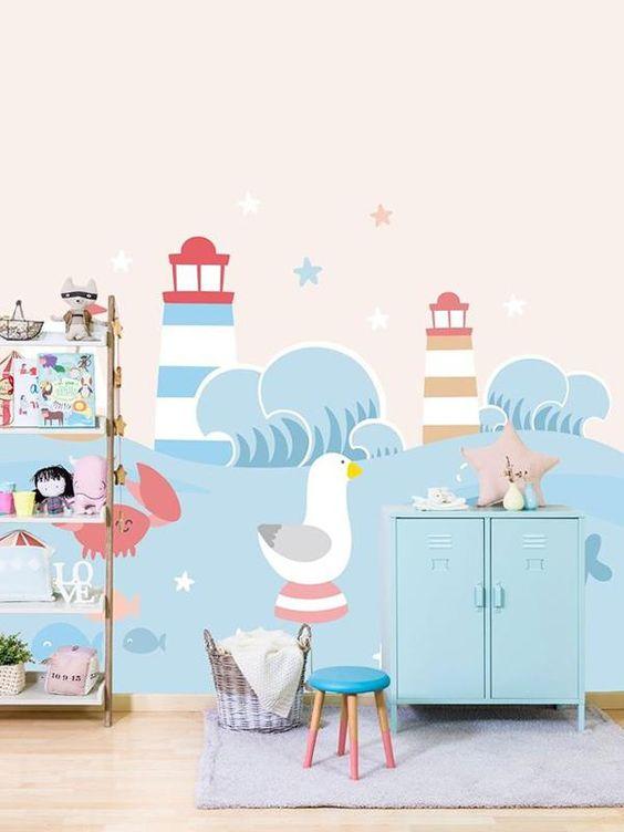 Decoracion habitacion bebe papel pintado papel pintado para infantiles y juveniles mapamundi - Papel pintado habitacion bebe ...
