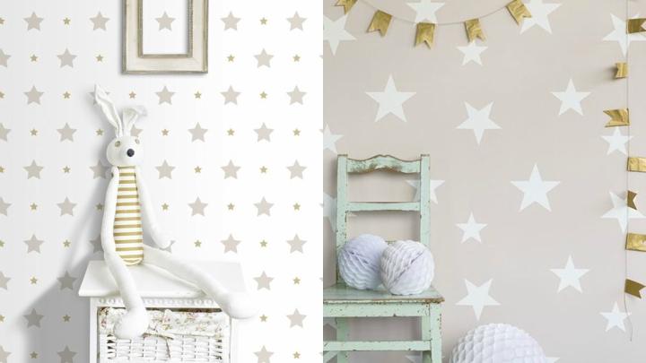 Papel-pintado-bebe-estrellas