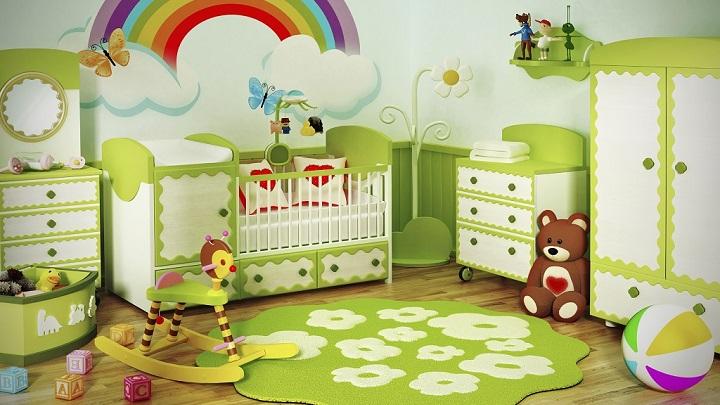 Fotos de habitaciones infantiles y juveniles de color verde