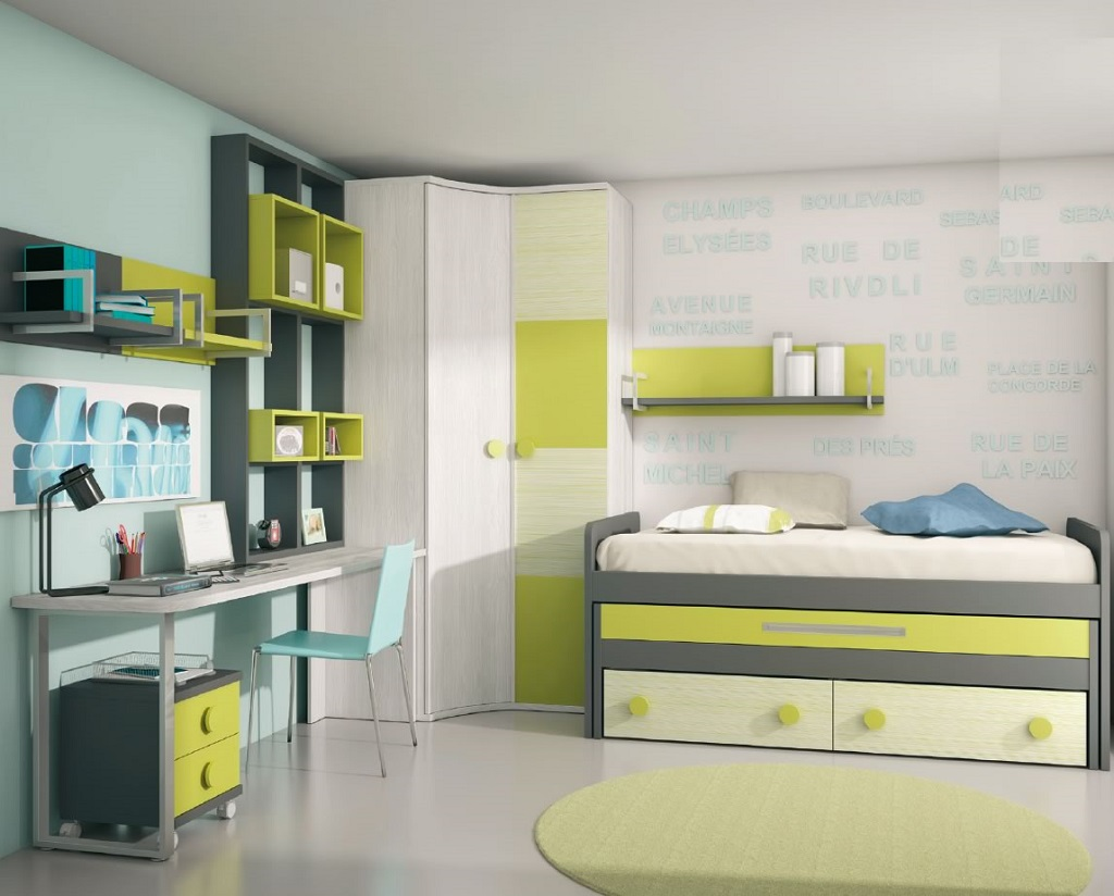 Habitaciones verdes1 - Iluminacion habitacion juvenil ...