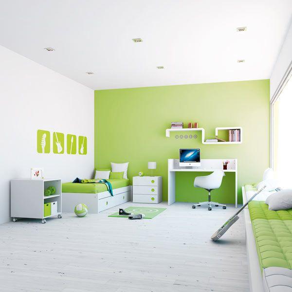 Habitaciones verdes16 - Habitaciones de color verde ...