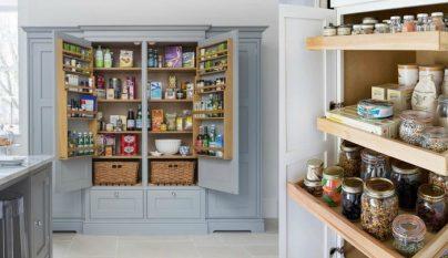 Decoraci n con armarios empapelados for Ordenar armarios cocina