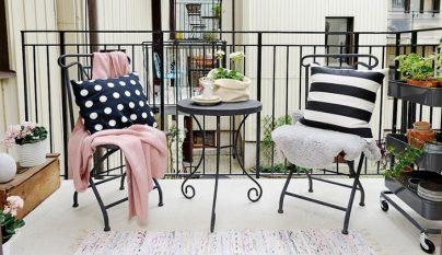 Claves para decorar balcones y terrazas - Balcones pequenos con encanto ...