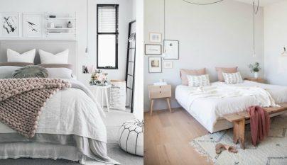 Dormitorio con camas colgadas - Cojines para cabeceros ...