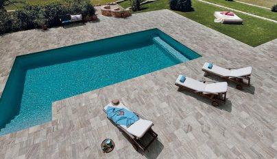 P rgolas bioclim ticas de lamas orientables for Carrelage contour piscine
